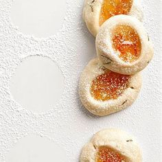 Rosemary-Kissed Orange Thumbprint Cookies Tuscano