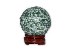 Green Tree Agate Crystal Sphere 40mm