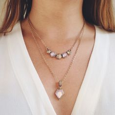 New for fall. The geovista convertible necklace. Wear one or both. Purchase on my site www.chloeandisabel.com/boutique/mariarosazenk