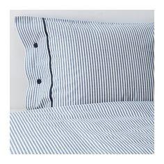 NYPONROS Pussilakana + 1 tyynyliina, valkoinen/sininen valkoinen/sininen 150x200/50x60 cm 19