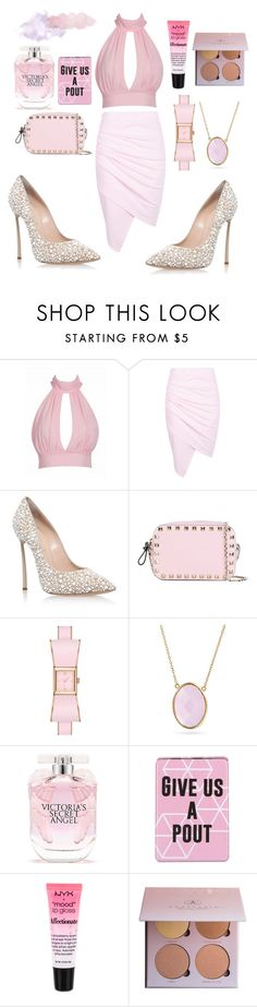 """""""Untitled #134"""" by amanihalaly on Polyvore featuring Casadei, Valentino, Kate Spade, Bling Jewelry, Victoria's Secret, Disaster Designs and NYX"""