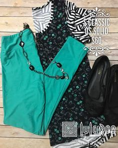 """1 Likes, 1 Comments - lularoejentaylor UT (@lularoejentaylor) on Instagram: """"Today's #ootd is so danity and cute! It's a patterned Mixed #lularoeclassict and solid…"""""""