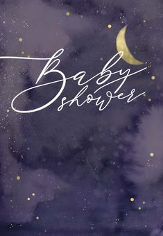Starry cloudy night - Baby Shower Invitation Template (Free)   Greetings Island