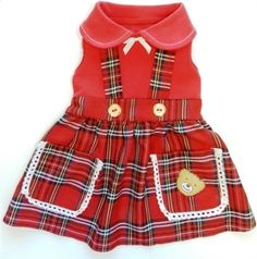 Lil Teddy Dress for Dogs by Ruff Ruff Couture. Buy at Focus for a Cause Pet Boutique Helping Animals One Sale at a Time.