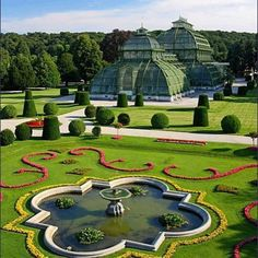 Schonbrunn Park and Botanical Garden in Vienna, Áustria.