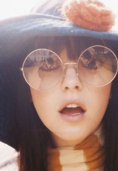 Big vintage glasses! Love it!  And I love this picture too :)