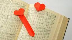 Origami Heart Bookmark (Jo Nakashima), via YouTube.