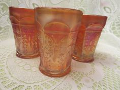 Butterfly and Berries Carnival Glasses by MemaAntiques on Etsy