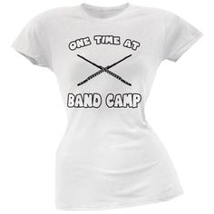 Band Camp White Soft Juniors T-Shirt