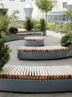 architecture - 45 Best DIY Outdoor Bench Ideas for Seating in The Garden Concrete Furniture, Urban Furniture, Street Furniture, Unique Furniture, Garden Furniture, Concrete Bench, Rustic Furniture, Furniture Makeover, Concrete Projects