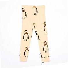 Mini Rodini Penguin Legging, Beige