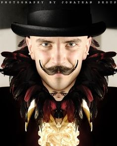 Another stereotypical ringmaster character which is defined by the facial hair. I think for this particular character, it is the facial hair that lets you know he is a ringmaster. I feel that without the facial hair he could be a number of different characters.