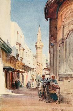 Tyndale, Walter (1855-1943) - Below the Cataracts 1907, El-Gamaliyeh, Cairo. #egypt