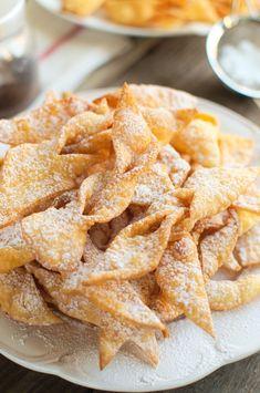 Faworki ubijane mikserem Snack Recipes, Snacks, Biscotti, Apple Pie, Chips, Baking, Cake, Food, Kitchen