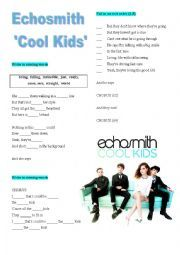 English Exercises: Echosmith-Cool Kids