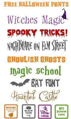 Free SPOOKtacular Halloween Fonts! also lots of other cool fonts here.