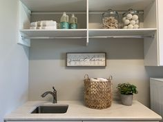 Laundry Room Staging Ideas Home Staging Companies, Laundry Room, Floating Shelves, Repurposed, Simple, Ideas, Home Decor, Decoration Home, Room Decor