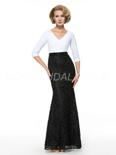 modabridal.co.uk SUPPLIES Fashionable Zipper-up Half Sleeves Natural Spring Sequins Trumpet/Mermaid Floor-Length Multi Color Dress Mother Of The Bride Dresses