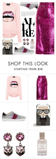 """Love"" by fcris7176 ❤ liked on Polyvore featuring Markus Lupfer, G.V.G.V., Gucci, Karl Lagerfeld and Henri Bendel"
