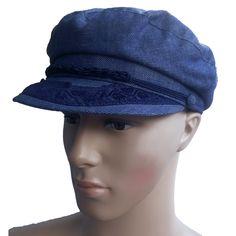fb7f6e0dde7 Greek Fisherman Hat Sailor Cap Blue Size 7 3 8