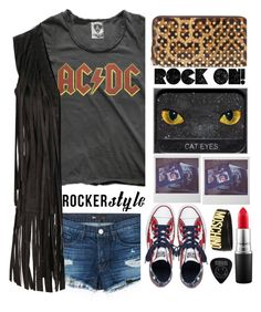 """ROCK ON"" by karineminzonwilson ❤ liked on Polyvore featuring Christian Louboutin, MAC Cosmetics, Converse, 3x1, Glamorous, Moschino, rockerchic and rockerstyle"