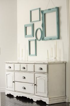 Turquoise frame wall