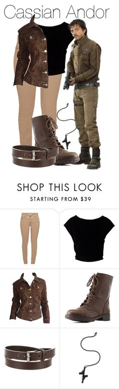 """""""Cassian Andor"""" by hipstermonkey12 ❤ liked on Polyvore featuring Barbour, Todd Oldham, Charlotte Russe, Gucci and Lynn Ban"""