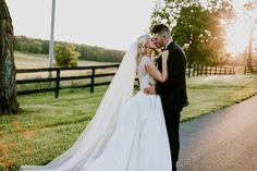A sunset kiss. Country Estate, Ivory Wedding, Wedding Planning, Kiss, June, Elegant, Wedding Dresses, Gold, Beautiful