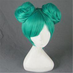 [ Oba perruques ] Hatsune de haute qualité droites courtes perruques de cheveux synthétiques bleu Vocaloid Miku Hatsune projet Diva Anime Cosplay perruque(China (Mainland))