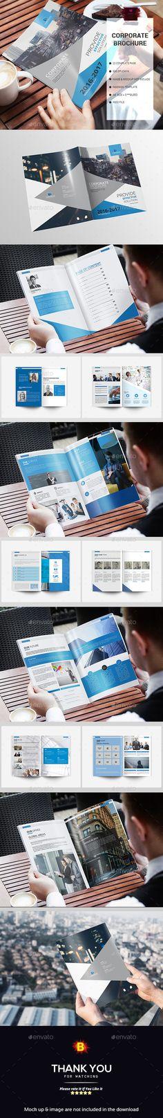Brochure — InDesign INDD #classic brochure • Download ➝ https://graphicriver.net/item/brochure/18859964?ref=pxcr