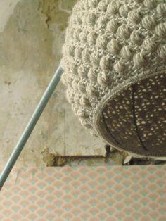 Lampadaire - #crochet #lamp #yarn