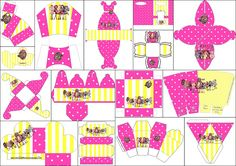 Yellow and Pink Ever After High: Free Printable Boxes. Mehr da!
