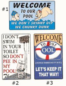 PoolSide Humor - Pool Signs