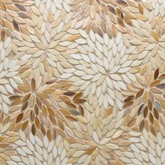 Artistic Tile | Jazz Glass Collection | Estrella Cream Blend Mosaic #tile #glass #mosaic