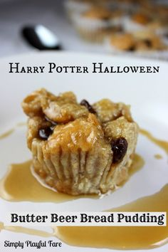 Butter Beer Bread Pudding on MyRecipeMagic.com (Harry Potter inspired sweetie)