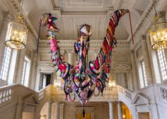 Joana Vasconcelos made this stunning mixed-media piece in 2010; right now it's hanging in Château de Versailles where the artist is the first female artist to show contemporary work.