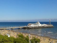 Bournemouth pier - supposed to be on the the best beaches.