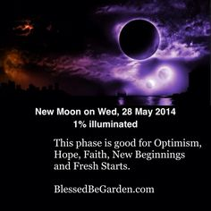 Today's moon is a new moon. Do you have any special magickal workings you plan on doing during this time?