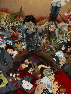 No need to fear when Ash Williams is here. Bruce Campbell Evil Dead, Evil Dead Movies, Ash Evil Dead, Horror Movie Characters, Horror Icons, Classic Horror Movies, Very Scary, Scary Halloween, Disney