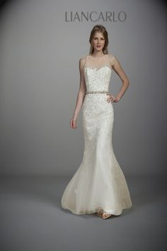 New wedding dresses by Liancarlo from the designer's Spring 2013 bridal runway collection. Wedding Dress 2013, Wedding Dresses Photos, Fall Wedding Dresses, Wedding Dress Styles, Spring Dresses, Designer Wedding Dresses, Bridal Dresses, Wedding Gowns, Bridesmaid Dresses