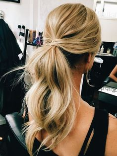 low ponytail, hair ideas, easy hair do, inspiration