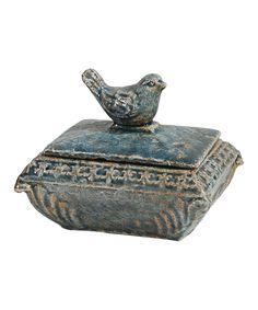 Look what I found on #zulily! Blue Bird Trinket Box by Established 98 #zulilyfinds