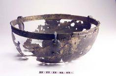 Viking era hanging cocking pot or container