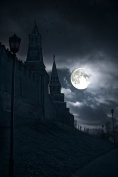 Goth Castle with full moon Moon Shadow, Over The Moon, Stars And Moon, Stars Night, Shadowhunters, Luna Moon, Moon Dance, Shoot The Moon, Moon Pictures