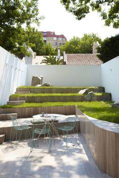 Jardín más sencillo imposible, pero bonito, muy bonito