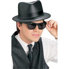 Blues-setti. Sisältää hatun ja aurinkolasit.