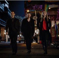 The Original Three. Daniel Gillies, Joseph Morgan, and Claire Holt. Season 5 5x3