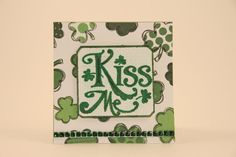 Mini Green St Patricks Day Card  St Paddys  by CatieGraceCreations