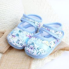 Beautiful Floral Soft Pre-Walker Baby Shoes PayPal