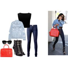 Inspiren Selena Gomez by imkatherineb on Polyvore featuring moda, Forever New, SJYP, Tommy Hilfiger, Balmain, Furla and Yves Saint Laurent